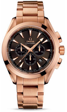 Omega,Omega - Seamaster Aqua Terra 150 M Co-Axial Chronograph 44 mm - Red Gold - Watch Brands Direct