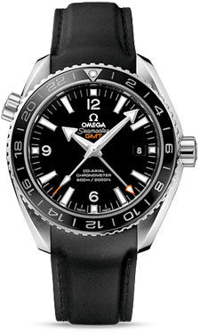 Omega,Omega - Seamaster Planet Ocean 600 M Co-Axial GMT 43.5 mm - Stainless Steel - Rubber Strap - Watch Brands Direct