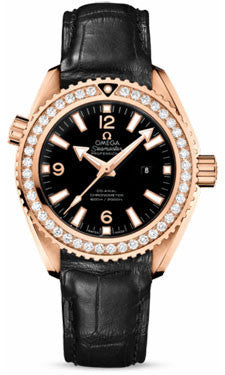 Omega,Omega - Seamaster Planet Ocean 600 M Co-Axial 37.5 mm - Red Gold - Leather Strap - Watch Brands Direct