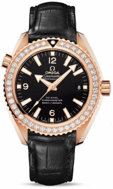 Omega,Omega - Seamaster Planet Ocean 600 M Co-Axial 42 mm - Red Gold - Leather Strap - Watch Brands Direct
