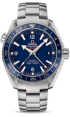 Omega,Omega - Seamaster Planet Ocean 600 M Co-Axial GMT 43.5mm - Titanium - Watch Brands Direct