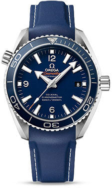 Omega,Omega - Seamaster Planet Ocean 600 M Co-Axial 42 mm - Titanium - Rubber Strap - Watch Brands Direct