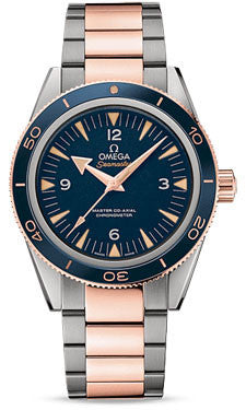 Omega,Omega - Seamaster 300 Omega Master Co-Axial 41 mm - Titanium and Sedna Gold - Watch Brands Direct