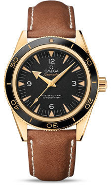Omega,Omega - Seamaster 300 Omega Master Co-Axial 41 mm - Yellow Gold - Watch Brands Direct