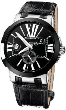 Ulysse Nardin,Ulysse Nardin - Executive Dual Time - Stainless Steel - Ceramic Bezel - Watch Brands Direct