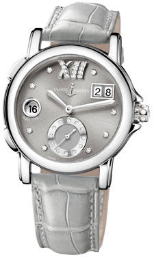 Ulysse Nardin,Ulysse Nardin - Dual Time Lady - Stainless Steel - Leather Strap - Watch Brands Direct