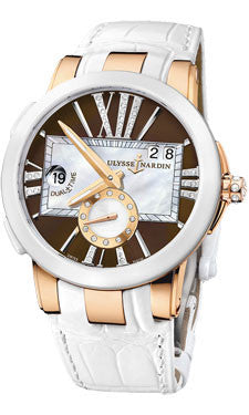Ulysse Nardin,Ulysse Nardin - Executive Lady - Rose Gold - Ceramic Bezel - Watch Brands Direct