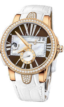 Ulysse Nardin,Ulysse Nardin - Executive Lady - Rose Gold - Diamond Bezel - Watch Brands Direct