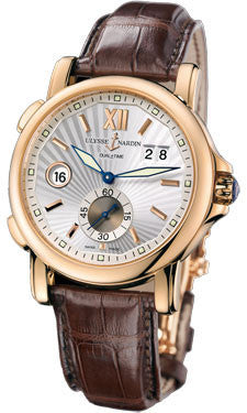 Ulysse Nardin,Ulysse Nardin - Dual Time 42mm - Rose Gold - Leather Strap - Watch Brands Direct
