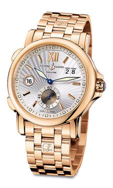 Ulysse Nardin,Ulysse Nardin - Dual Time 42mm - Rose Gold - Bracelet - Watch Brands Direct