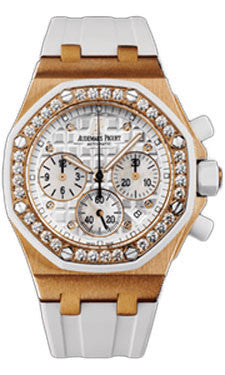 Audemars Piguet,Audemars Piguet - Royal Oak Offshore Lady Chronograph - Pink Gold - Watch Brands Direct