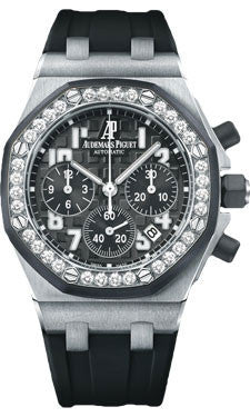 Audemars Piguet,Audemars Piguet - Royal Oak Offshore Lady Chronograph - Stainless Steel - Watch Brands Direct