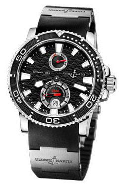 Ulysse Nardin,Ulysse Nardin - Marine Diver 42.7mm - Stainless Steel - Rubber Strap - Watch Brands Direct