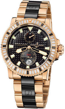 Ulysse Nardin,Ulysse Nardin - Marine Diver 42.7mm - Rose Gold and Diamonds - Watch Brands Direct