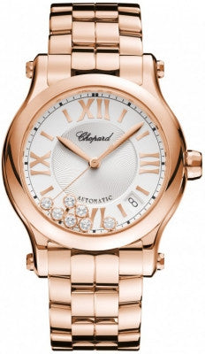 Chopard - Happy Sport Automatic - Round Medium 36mm - Rose gold - Watch Brands Direct  - 1