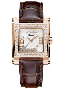 Chopard,Chopard - Happy Sport - Square Medium - Rose Gold - Watch Brands Direct