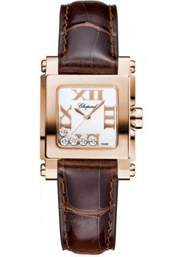 Chopard,Chopard - Happy Sport - Square Mini - Rose Gold - 27mm x 27mm - Watch Brands Direct