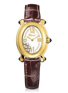 Chopard,Chopard - Happy Sport - Oval - Yellow Gold - Watch Brands Direct