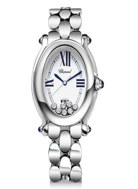 Chopard,Chopard - Happy Sport - Oval - Stainless Steel - Sapphire cabochons and Diamonds - Watch Brands Direct
