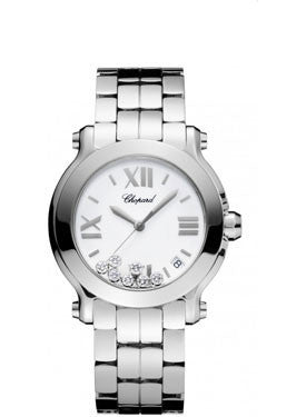 Chopard - Happy Sport - Round Medium - Stainless Steel - Bracelet - Watch Brands Direct  - 1