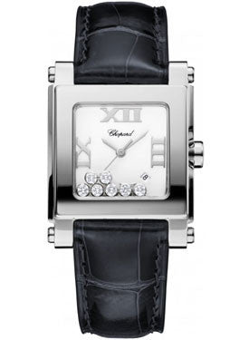 Chopard,Chopard - Happy Sport - Square Medium - Stainless Steel - Watch Brands Direct