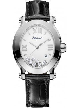 Chopard,Chopard - Happy Sport - Oval - Stainless Steel - Watch Brands Direct