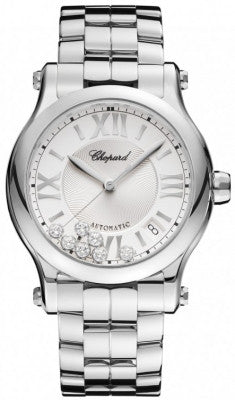 Chopard - Happy Sport Automatic - Round Medium 36mm - Stainless Steel - Watch Brands Direct  - 1