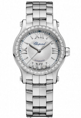 Chopard - Happy Sport Automatic - Round Mini 30mm - Stainless Steel and Diamonds - Watch Brands Direct
