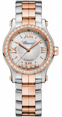 Chopard - Happy Sport Automatic - Round Mini 30mm - Stainless Steel and Rose Gold - Watch Brands Direct