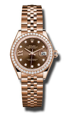 Rolex - Datejust Lady 28 Everose Gold - Diamond Bezel - Watch Brands Direct  - 1