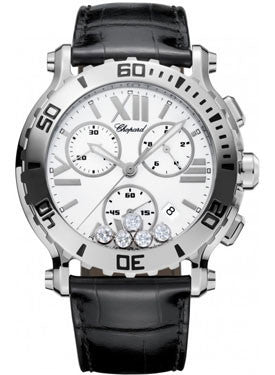 Chopard,Chopard - Happy Sport - Chrono - Stainless Steel - 5 Mobile Diamonds - Watch Brands Direct