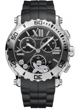 Chopard,Chopard - Happy Sport - Chrono - Stainless Steel - 3 Mobile Diamonds - Watch Brands Direct