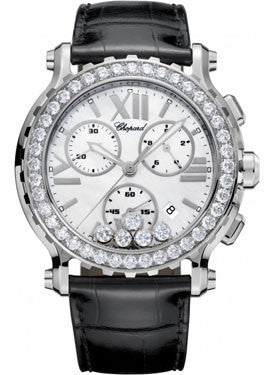 Chopard,Chopard - Happy Sport - Chrono - Stainless Steel - Diamond Bezel - Watch Brands Direct