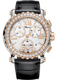Chopard,Chopard - Happy Sport - Chrono - Stainless Steel and Rose Gold - Diamond Bezel - Watch Brands Direct