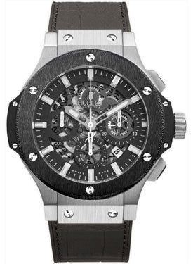 Hublot,Hublot - Big Bang 44mm Aero Bang Stainless Steel And Ceramic - Watch Brands Direct