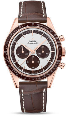 Omega,Omega - Speedmaster Moonwatch Professional 39.7 mm - Sedna Gold - Watch Brands Direct