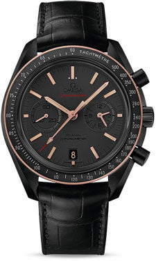 Omega,Omega - Speedmaster Moonwatch Co-Axial Chronograph 44.25 mm - Black Ceramic - Watch Brands Direct