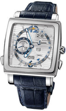 Ulysse Nardin,Ulysse Nardin - Quadrato - Dual Time Perpetual - White Gold - Watch Brands Direct