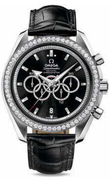 Omega,Omega - Speedmaster Olympic Collection Timeless 44.25 mm - White Gold - Watch Brands Direct