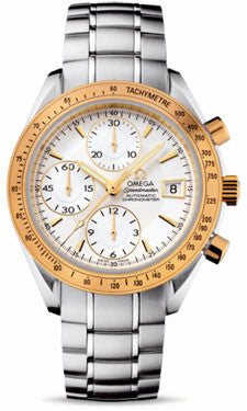 Omega,Omega - Speedmaster Date - Stainless Steel and Yellow Gold - Watch Brands Direct