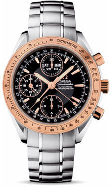 Omega,Omega - Speedmaster Day-Date - Stainless Steel and Red Gold - Watch Brands Direct