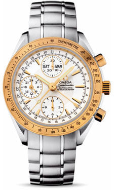 Omega,Omega - Speedmaster Day-Date - Stainless Steel and Yellow Gold - Watch Brands Direct