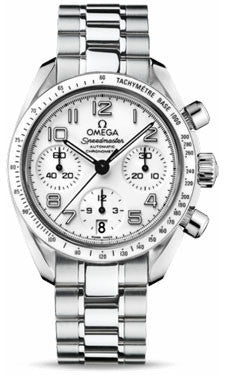 Omega,Omega - Speedmaster Chronograph 38 mm - Stainless Steel - Watch Brands Direct