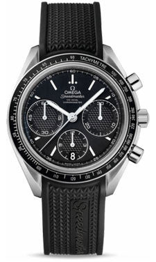 Omega,Omega - Speedmaster Racing Co-Axial Chronograph 40 mm - Stainless Steel - Rubber Strap - Watch Brands Direct