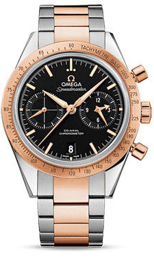 Omega,Omega - Speedmaster 57 Omega Co-Axial Chronograph 41.5 mm - Steel And Red Gold - Watch Brands Direct