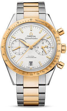 Omega,Omega - Speedmaster 57 Omega Co-Axial Chronograph 41.5 mm - Steel And Yellow Gold - Watch Brands Direct