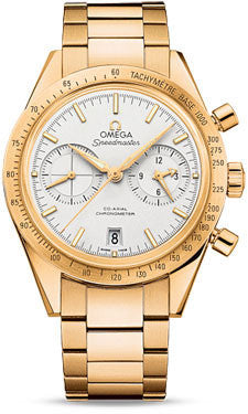 Omega,Omega - Speedmaster 57 Omega Co-Axial Chronograph 41.5 mm - Yellow Gold - Watch Brands Direct