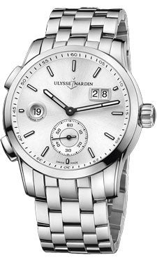 Ulysse Nardin,Ulysse Nardin - Dual Time Manufacture - Stainless Steel - Bracelet - Watch Brands Direct