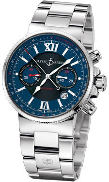 Ulysse Nardin,Ulysse Nardin - Marine Diver Chronograph 41mm - Stainless Steel - Watch Brands Direct