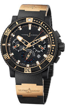 Ulysse Nardin,Ulysse Nardin - Marine Diver Chronograph - Black Sea - Watch Brands Direct